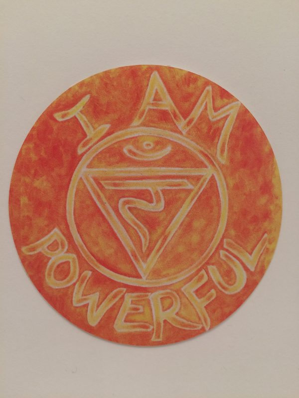 "I Am Powerful ~ 3.5"" vinyl sticker"