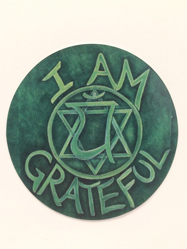 """I Am Grateful ~ 3.5"""" vinyl sticker"""