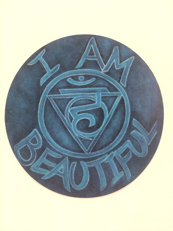 "I Am Beautiful ~ 3.5"" vinyl sticker"