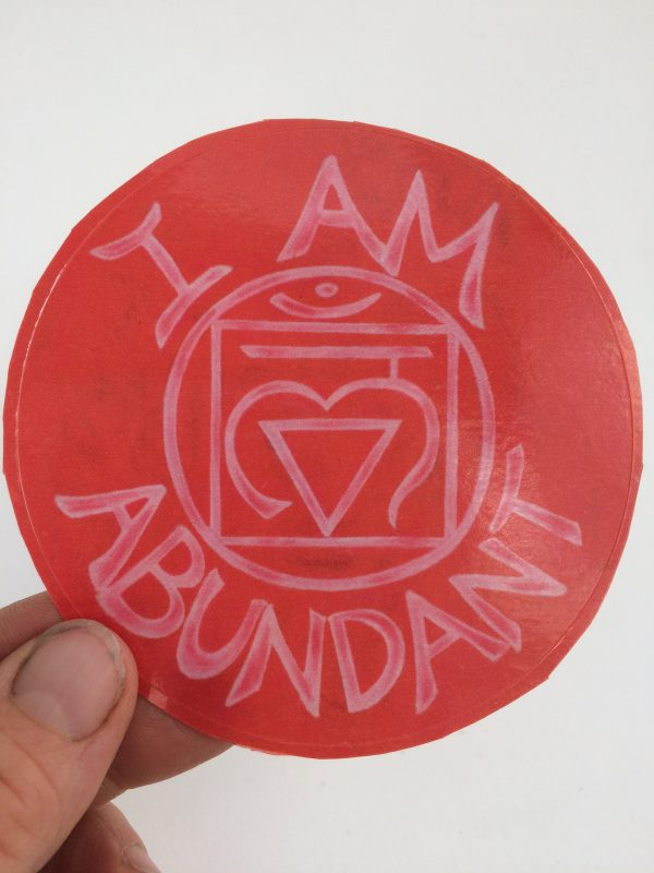 I Am Abundant ~ window cling
