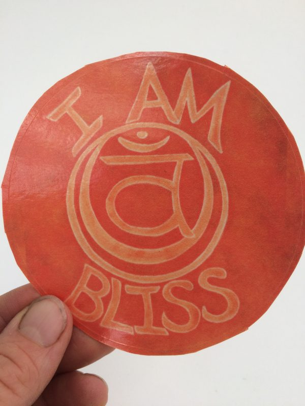 I Am Bliss ~ window cling