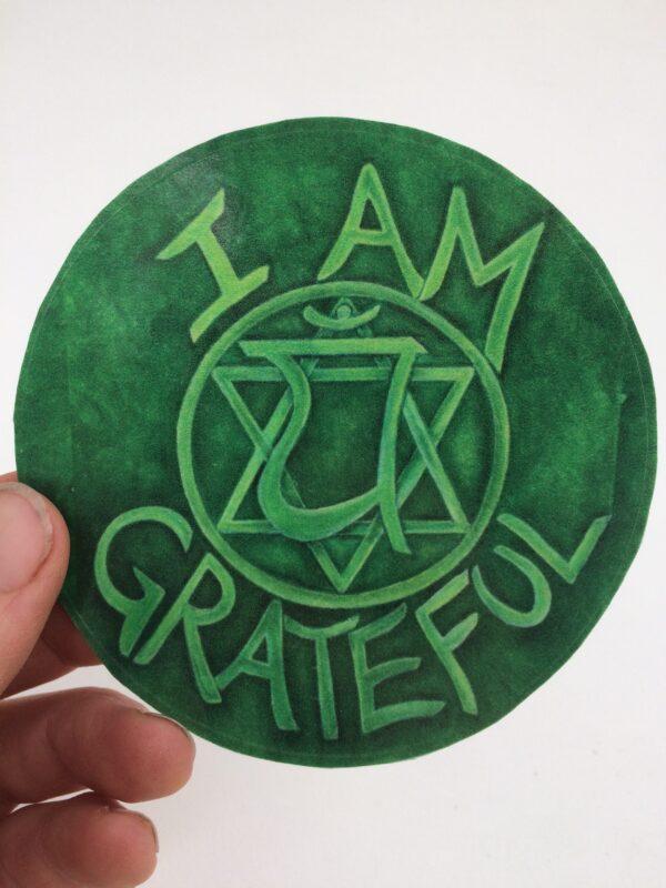 I Am Grateful ~ window cling