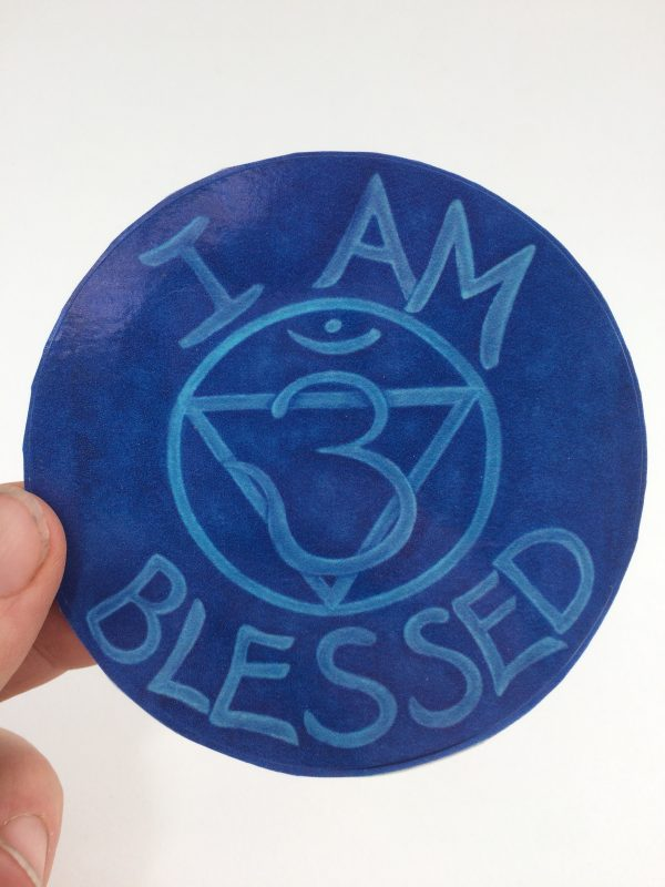 I Am Blessed ~ window cling