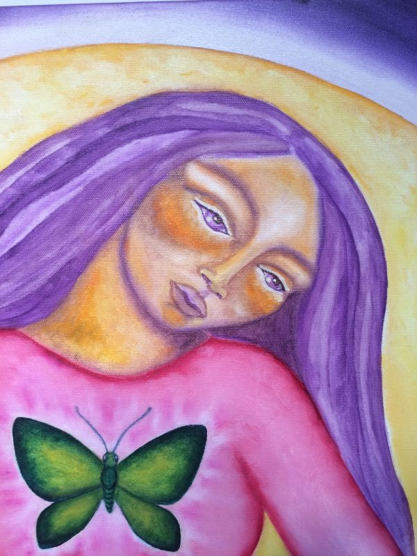 Sacred Womb ~ painting detail