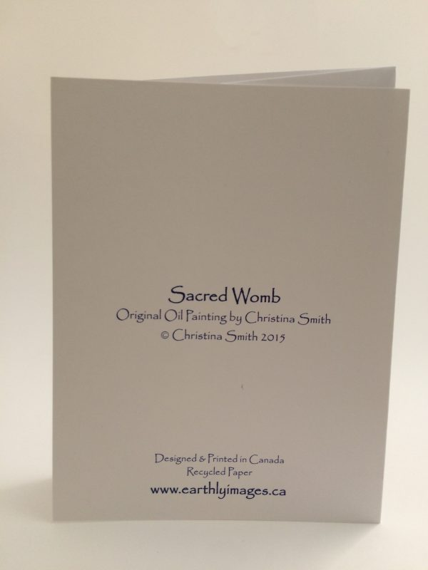 Sacred Womb ~ card (back)