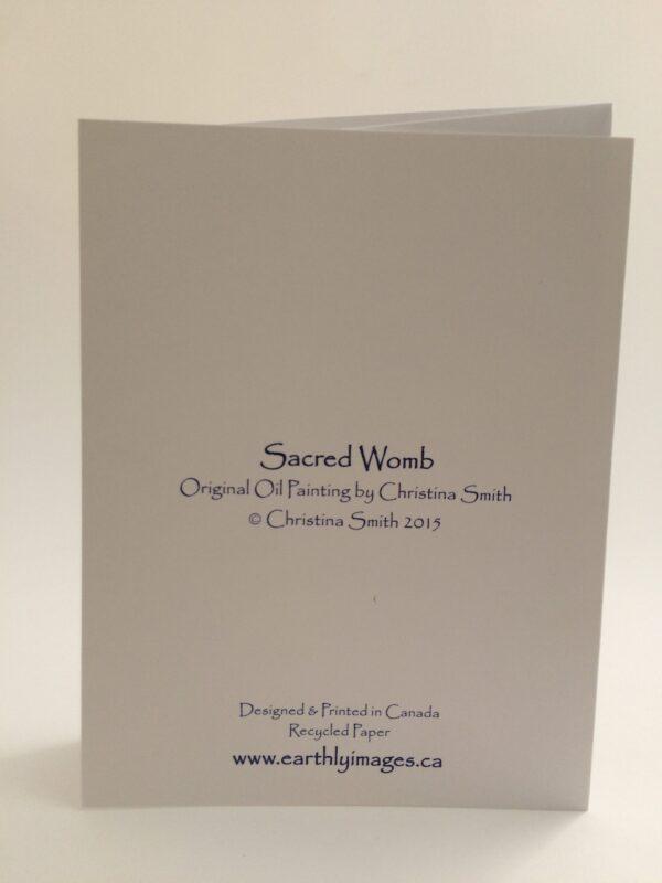 Sacred Womb ~ card (back)