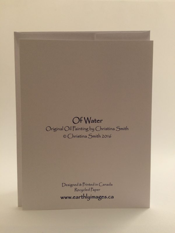 Of Water ~ card (back)