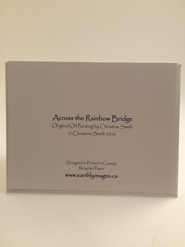 Across the Rainbow Bridge ~ card (back)