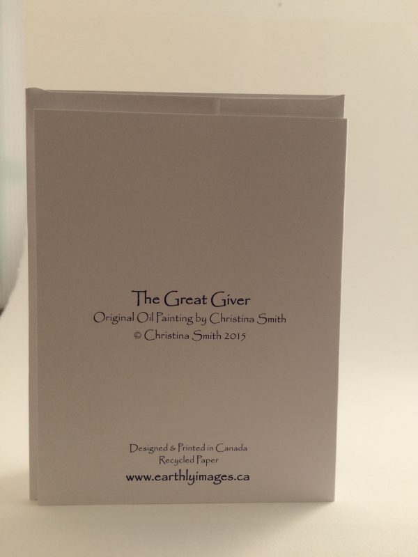 The Great Giver ~ card(back)