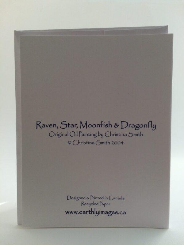 RavenStar, Moonfish & Dragonfly ~ card (back)
