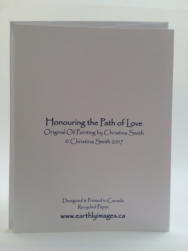 Honouring the Path of Love ~ card (back)