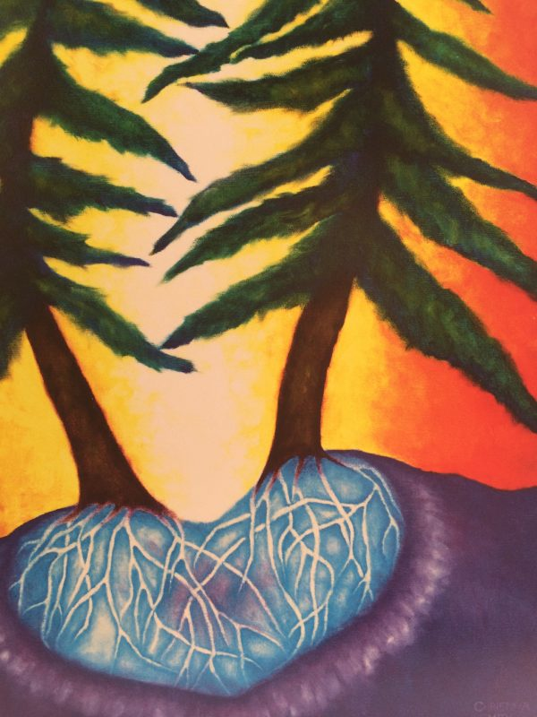 Love Trees ~ print detail