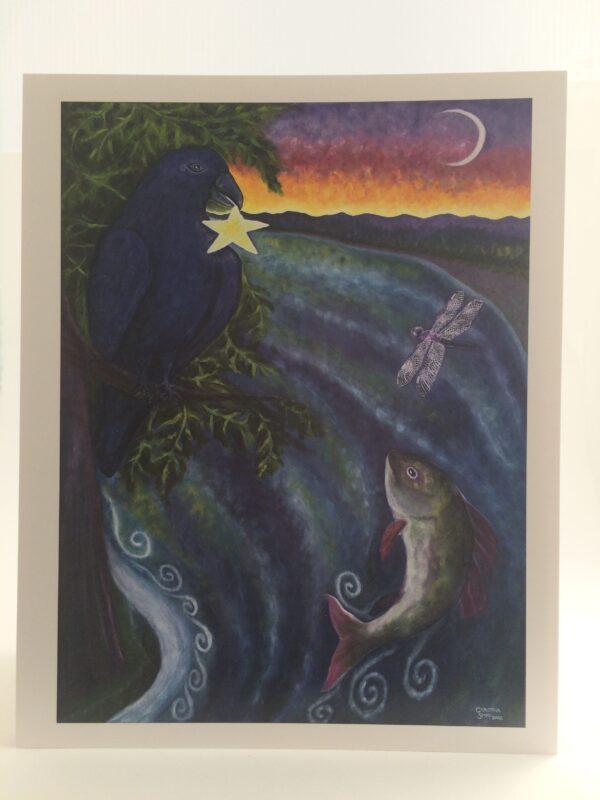 RavenStar, Moonfish & Dragonfly ~ print