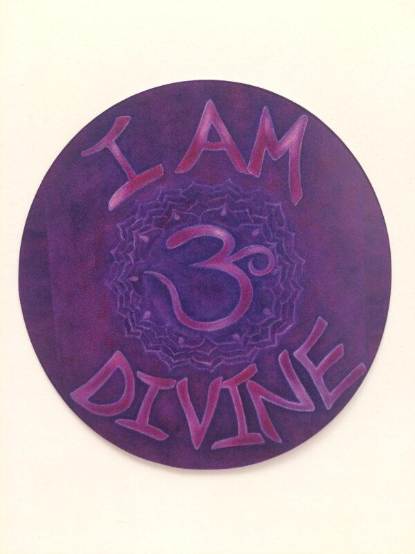 """I Am Divine ~ 3.5"""" vinyl sticker"""