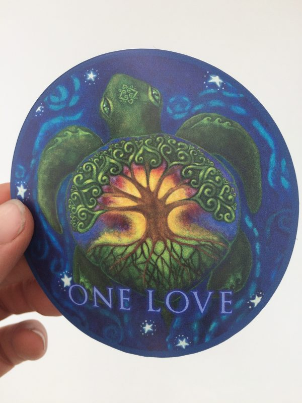 The Great giver ~ One Love vinyl sticker