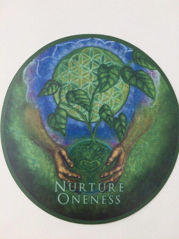 """Nurturing Oneness ~ 3.5"""" vinyl sticker"""