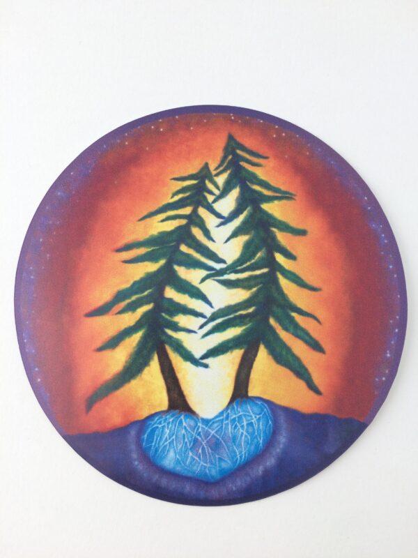 "Love Trees ~ 3.5"" vinyl sticker"