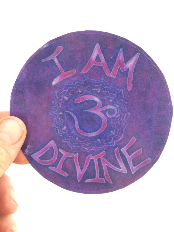 I Am Divine ~ window cling