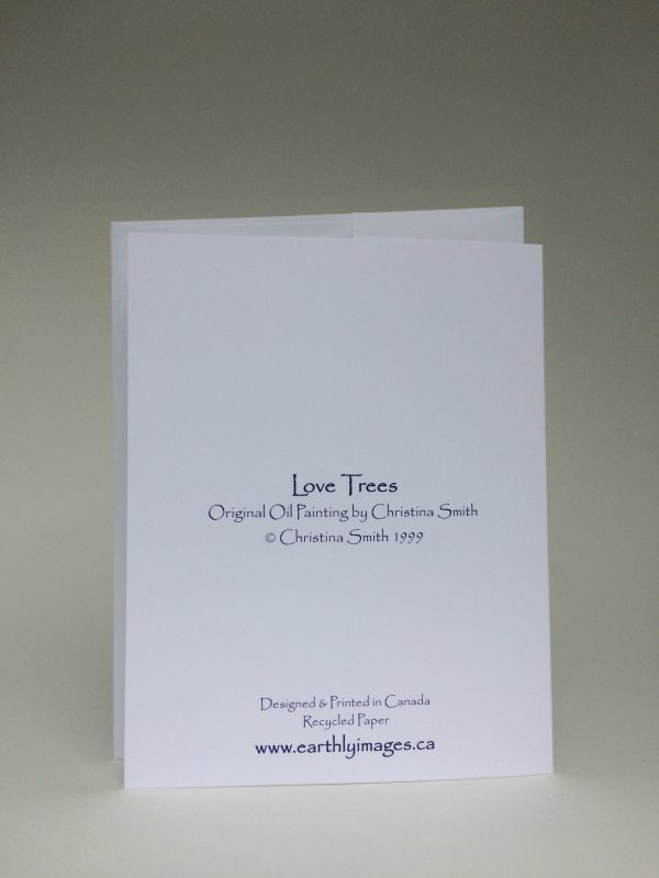 Love Trees ~ greeting card (back)