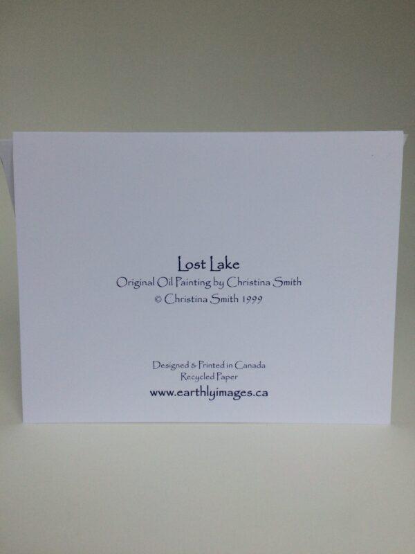 Lost Lake ~ greeting card (back)