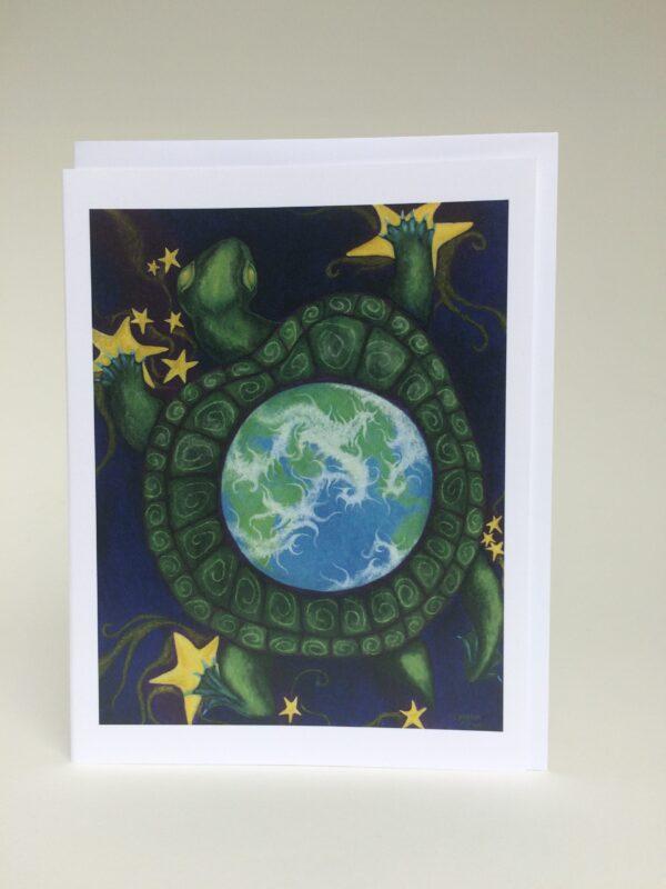 Cosmic Turtle ~ greeting card