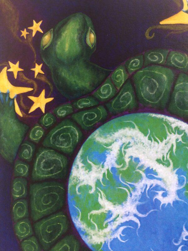 Cosmic Turtle ~ print detail
