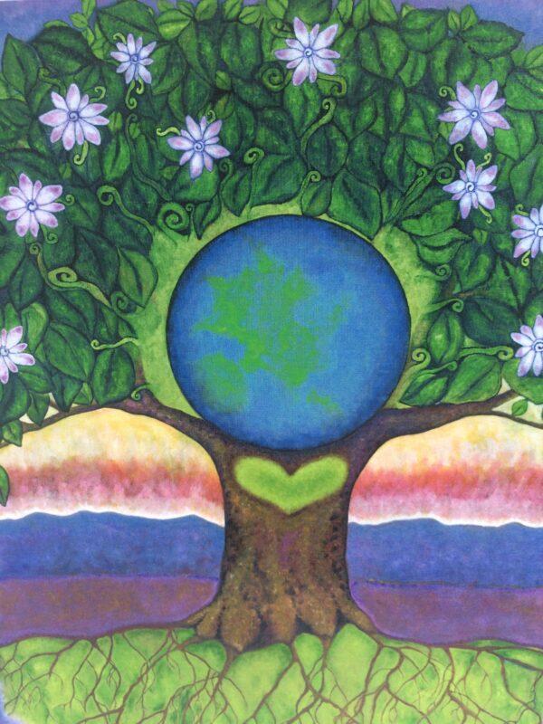 Gaia ~ print detail