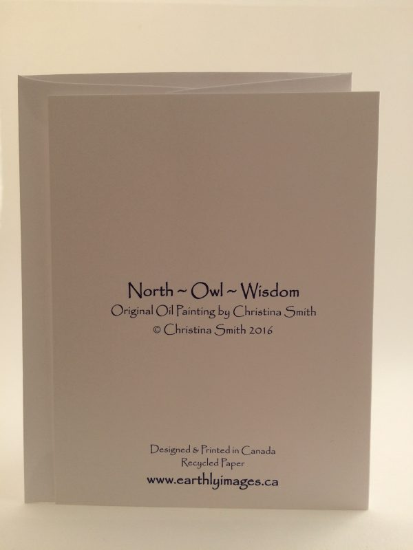 North*Owl*Wisdom ~ card (back)