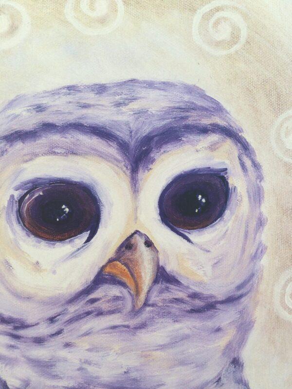 North*Owl*Wisdom ~ print detail